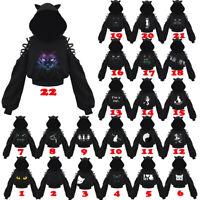 Women Kawaii Clothing Gothic Punk Cat Hoodie Sweatshirt Harajuku Ulzzang Lace Up
