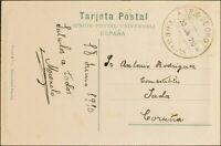 Spanien Fluß Von Oro. Umschlag 56MP. 1910. 10 Cts Grün Goldrand Hoja. Klappkarte