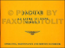 1969 1970 1971 Jaguar XKE Owners Manual 4.2 XK E Type Operating Service Handbook