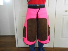HORSESHOEING CHAPS/FARRIER SHOEING APRON/FLOPINK/ WITH BROWN LEATHER