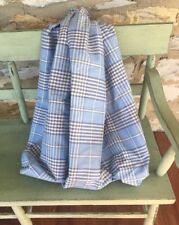 Blue White Plaid Fabric 2 Yds. for upholstery Roman shade craft pillows