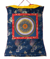 Thangka Tibetano Mantra Lungo Vita -tangka Appeso Bouddhiste-63x54 cm-2948