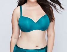 NWT Lane Bryant Cacique 40 DDD Blue Lightly Lined Racer Balconette Underwire Bra