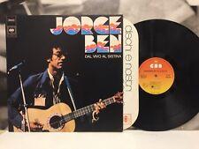 JORGE BEN - DAL VIVO AL SISTINA LP EX-/EX 1981 ITALY CBS 81102