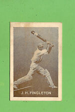 1937  GRIFFITHS  BLACK CROWS COUGH DROPS SWEETS CRICKET CARD - J.H. FINGLETON