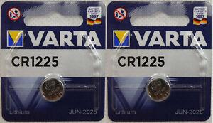 2 Stück Varta CR1225 Batterien Knopfzellen Knopfzelle Uhren MHD 06-2028