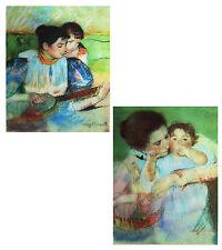Mary Cassatt - Mother and Child & Banjo Lesson Animated 3D Lenticular Postcard
