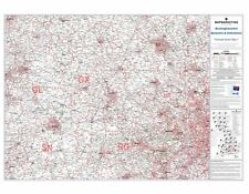 Postcode Sector Map 7 Berkshire, Buckinghamshire and Oxfordshire (Laminated)