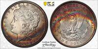 1886-P USA MORGAN SILVER DOLLAR PCGS MS64 GORGEOUS TONED COLOR UNC GEM BU (DR)