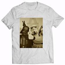 Star Wars T-shirt Funny Stormtrooper Selfie Retro Vintage Mens Cotton White