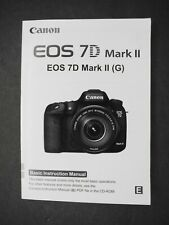 #2 Canon Genuine Eos 7D Mark Ii Camera Instruction Book / Manual / User Guide
