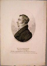 """Gravure au pointillé par TARDIEU , """"Portrait de LAMOUROUX"""""""