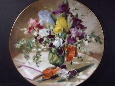 W. L. George 1989 Flowers of Your Garden IRISES  Ltd Ed Plate