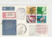 Germany 1973 Celeb.Communications Space Registered Multi Stamps Cover Ref 23397