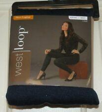 New Womens size Medium/Large 8-12 Navy Blue Fleece Leggings Poly/Spandex