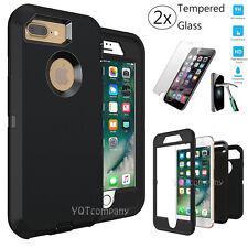 For Apple iPhone 7 Plus Hard Case Hybrid Defender Slim Soft TPU Phone Cover