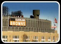 Cleveland Browns MAGNET Municipal Stadium Vintage Dawg Pound NFL Chief Wahoo
