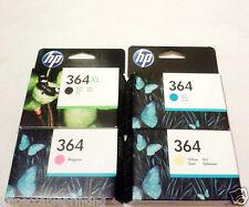 GENUINE HP 364XL Black 364 Cyan Magenta Yellow Ink Cartridges (5 YEARS WARRANTY)