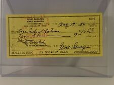 GENE SARAZEN AUTOGRAPH CANCELLED CHECK WORLD GOLF HALL OF FAME