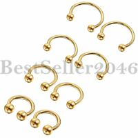 2pcs 16G Body Piercing Jewelry Horseshoe Hoop Septum Nose Lip Ring Ear Bar