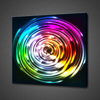 RAINBOW COLOURFUL GLASS CANVAS PICTURE PRINT WALL ART HOME DECOR FREE DELIVERY