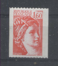 FRANCE TIMBRE ROULETTE 2158a N° rouge au verso SABINE rouge - LUXE **