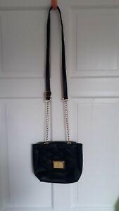 LIPSY small black/gold over the shoulder handbag