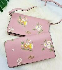 COACH HAYDEN FOLD OVER CROSSBODY CLUTCH WITH TOSSED DAISY PRINT 73018