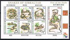 Gibraltar 2001 blok 955-961 Chinees Nieuwjaar - jaar van de slang cat waarde € 7