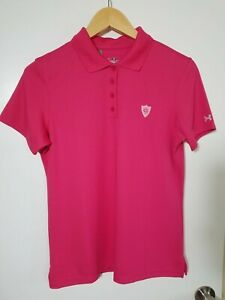 1 NWT UNDER ARMOUR WOMEN'S POLO, SIZE: SMALL, COLOR: PINK (J128)