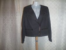 Spring/Fall lined Jacket size 10 Gap Light Black Full Zip 100% cotton NWT