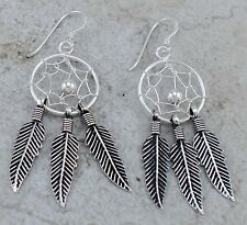 EXOTIC 925 STERLING SILVER DREAMCATCHER EARRINGS  style# e1072