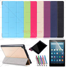 Auto Wake/Sleep Smart Leather Cover Stand Case For Amazon Fire HD 8 2018/2017