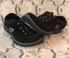 Sketchers Womens Sz 8 Gratis In Motion Black Sneakers Comfort Shoes Lightweight