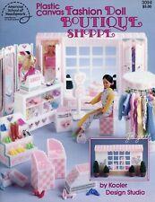 Boutique Shoppe ~ fits Barbie fashion dolls, plastic canvas pattern booklet