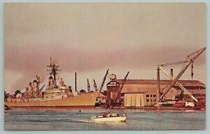 Bay City Michigan~Defoe Shipbuilding Company~Great Lakes~Vintage Postcard