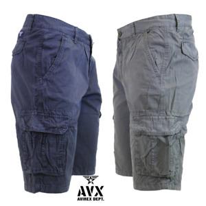 AVIREX Bermuda Uomo Cargo Tasconi Pantalone Corto Tessuto Leggero 32041 46/50