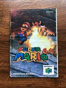 Super Mario 64 N64 Nintendo 64 Instruction Manual Only