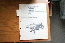 New Holland 479 Haybine Mower Conditioner Operators Manual