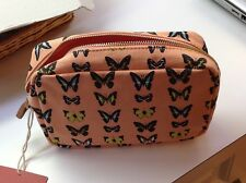 NWT Coral Butterfly Cosmetic Bag By Mossimo Supply Co.