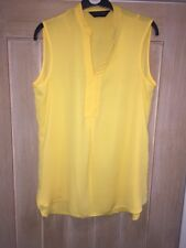 Dorothy Perkins Yellow Sleeveless Longline Top Size 10 Excellent Condition