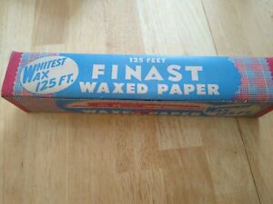 Vintage Box of Finest Waxed Paper - First National Stores, Somerville MA