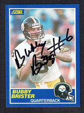 Bubby Brister #11 signed autograph auto 1989 Score Football Trading Card