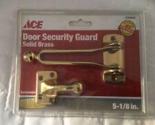 Ace 5 1/8 In Solid Brass Door Security Guard New