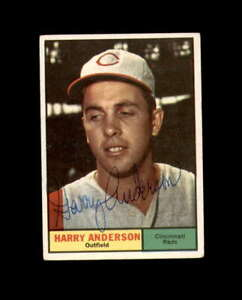 Harry Anderson Hand Signed 1961 Topps Cincinnati Reds Autograph