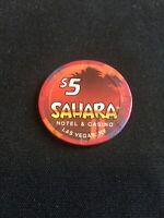 Sahara Hotel Casino Las Vegas 5 Dollar Chip Red