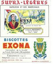 BUVARD 136013 NAPOLEON BONAPARTE EXONA MARECHAUX MACDONALD CAMPAGNE DE France
