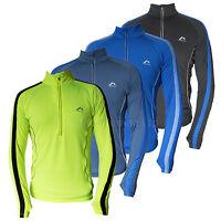More Mile Mens Hi Viz Long Sleeve Running Cycling Top Dri Fit Sports T Shirt Tee
