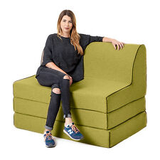 Olive Olivia Fold out Foam Z Chairbed Sofa 2 Seater Folding Futon Mattress