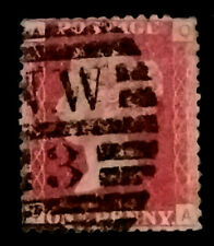 GB QV Penny Red  1858-79 1d  Letters QA  PR219  Free Registered Mail
